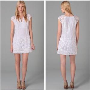 Nanette Lepore White Lace Mini Dres